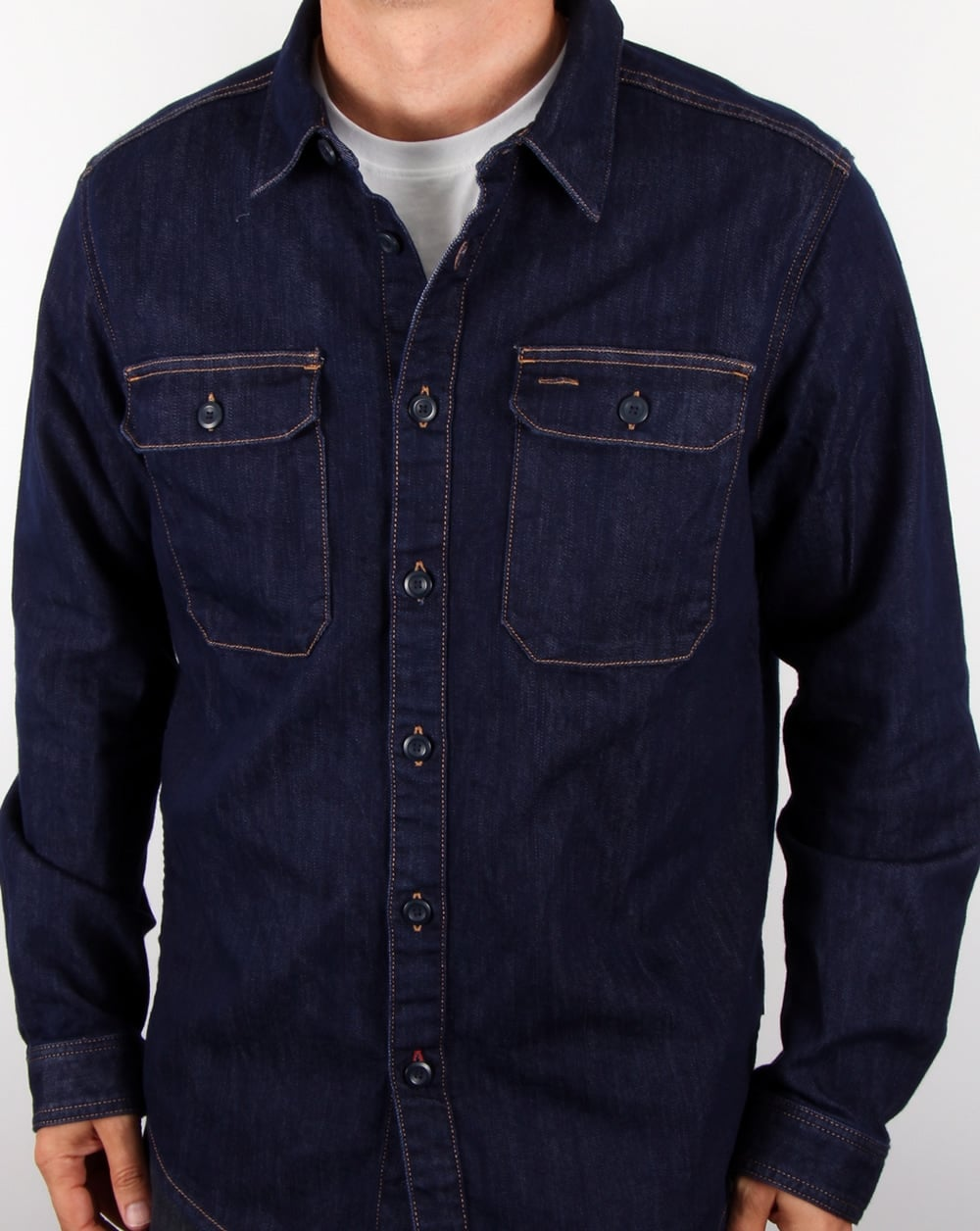 online store 5cbc5 1fd1d Patagonia Workwear Shirt Dark Denim