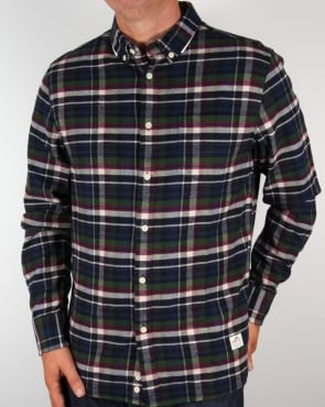 Penfield Barrhead Check Shirt Blue