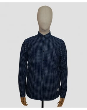 Penfield Higbee Check Shirt Navy