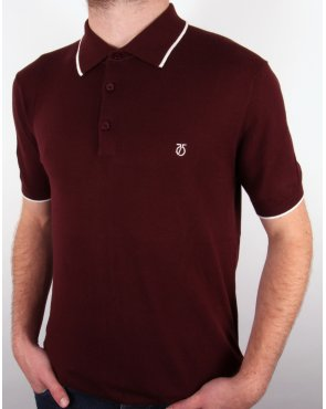 Peter Werth Bernwell S/s Polo Shirt Burgundy