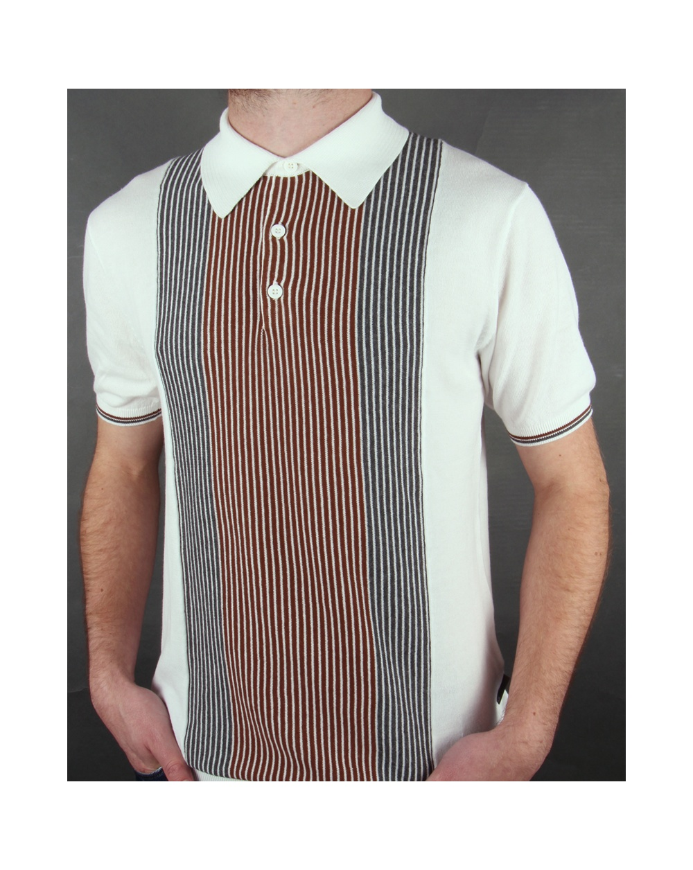 Mens knitted polo shirt for Knitted polo shirt mens