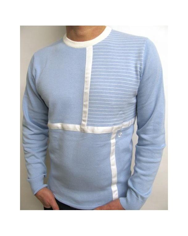Pierre Cardin Heritage Crew Neck Knit Sky Blue
