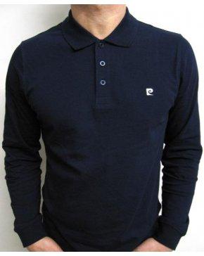 Pierre Cardin Vintage Pierre Cardin Heritage L/s Polo Shirt Navy