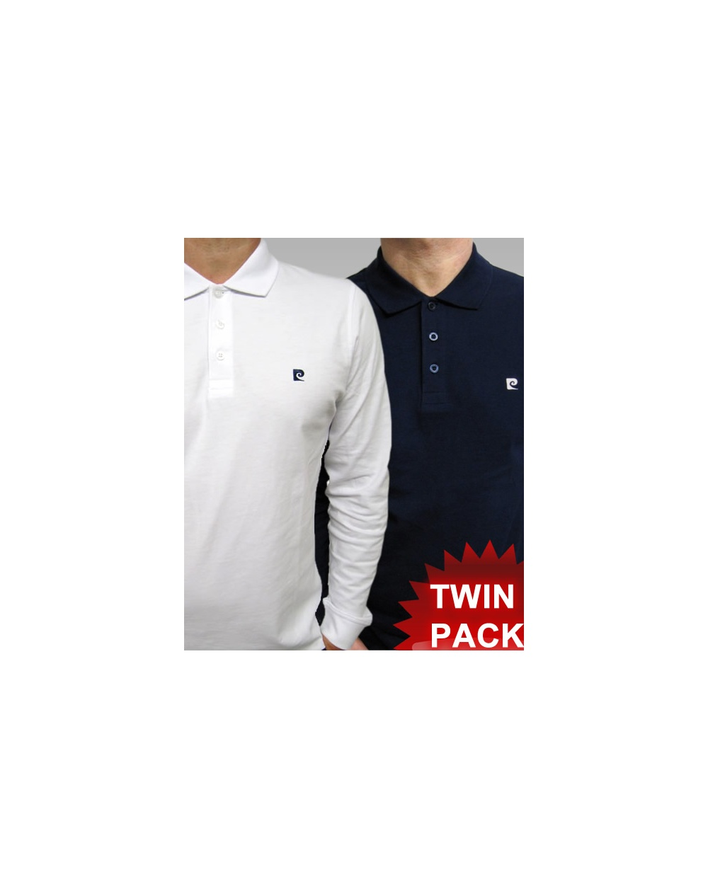 0e7b155d Pierre Cardin Heritage L/s Polo Shirt Navy/white - smart long sleeve ...