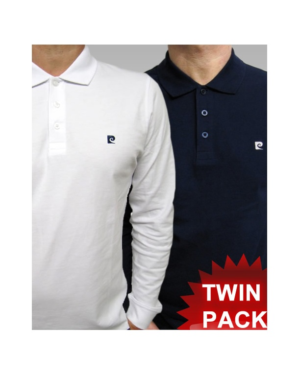 Pierre Cardin Heritage L/s Polo Shirt TWIN PACK