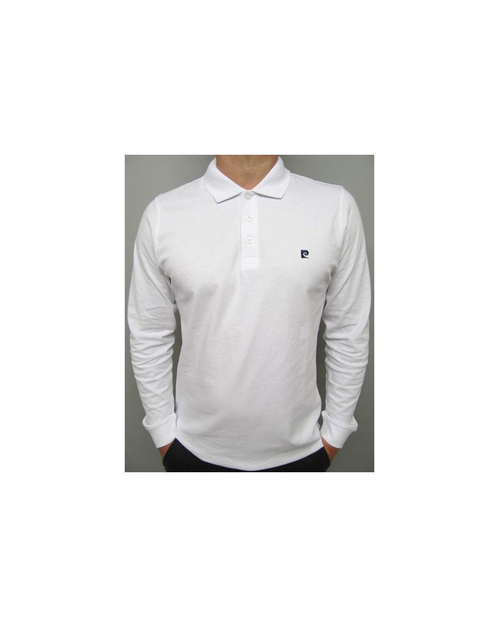 39c22536e Pierre Cardin Heritage L s Polo Shirt White - smart long sleeve polo
