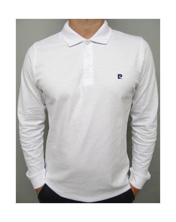Pierre Cardin Heritage L/s Polo Shirt White
