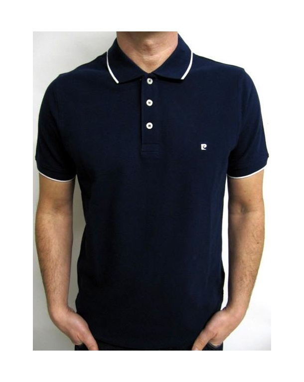 Pierre Cardin Heritage Tipped S/s Polo Shirt Navy