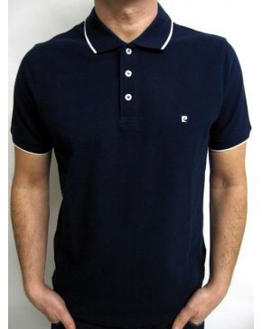 Pierre Cardin Vintage Pierre Cardin Heritage Tipped S/s Polo Shirt Navy