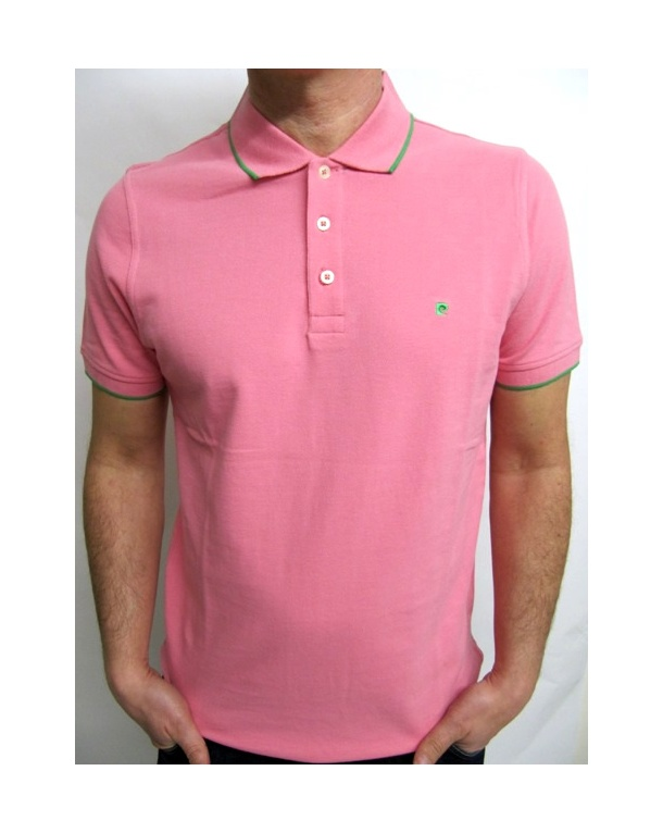 Pierre Cardin Heritage Tipped S/s Polo Shirt Pink