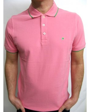 Pierre Cardin Vintage Pierre Cardin Heritage Tipped S/s Polo Shirt Pink