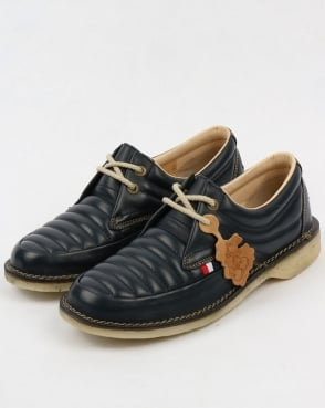 Pod Jagger Quilted Shoes Navy