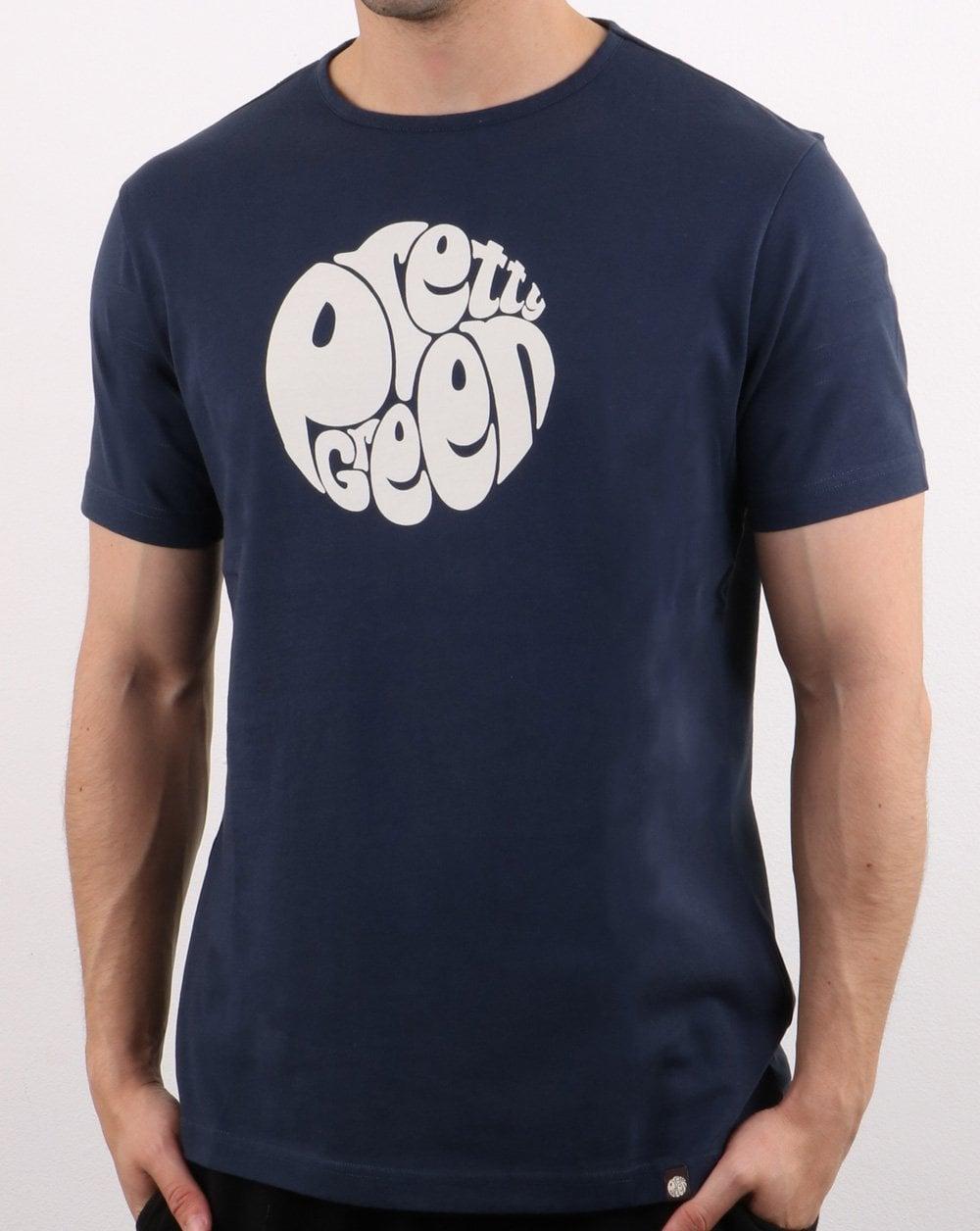ba5a42dd Pretty Green Logo T-shirt Navy   80s Casual Classics