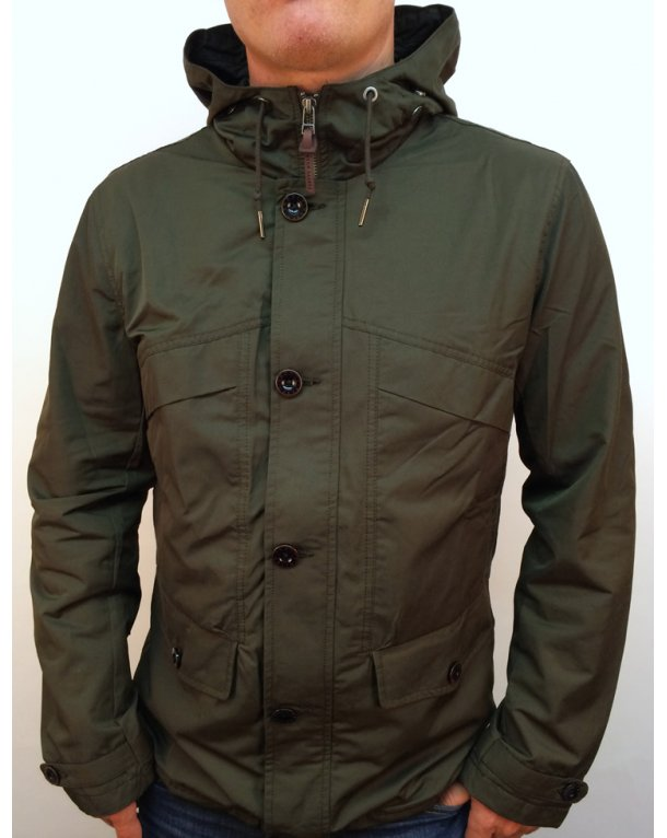 Pretty Green Abbeycroft Hooded Jacket Khaki Green
