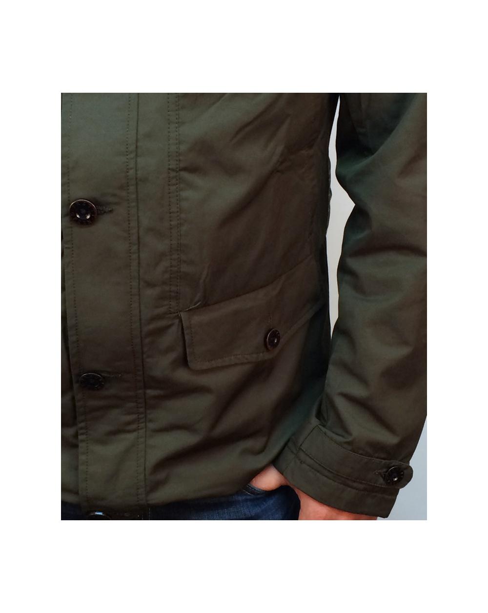 pretty green abbeycroft hooded jacket khaki green hooded jacket pretty green mens. Black Bedroom Furniture Sets. Home Design Ideas