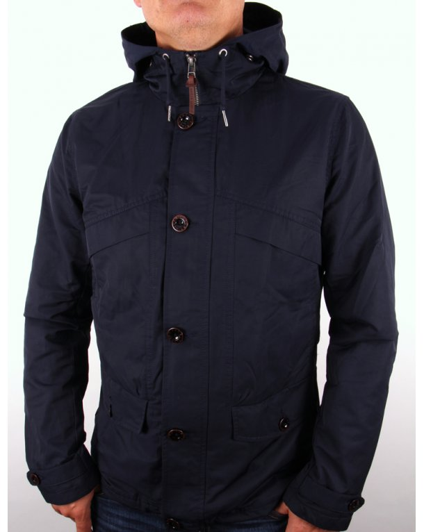 Pretty Green Abbeycroft Hooded Jacket Navy