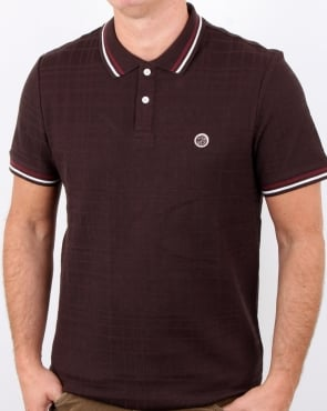 Pretty Green Arlow Polo Dark Brown