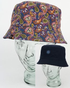 Pretty Green Astan Paisley Bucket Hat Vintage