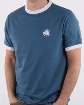 Pretty Green Badge T-shirt Blue