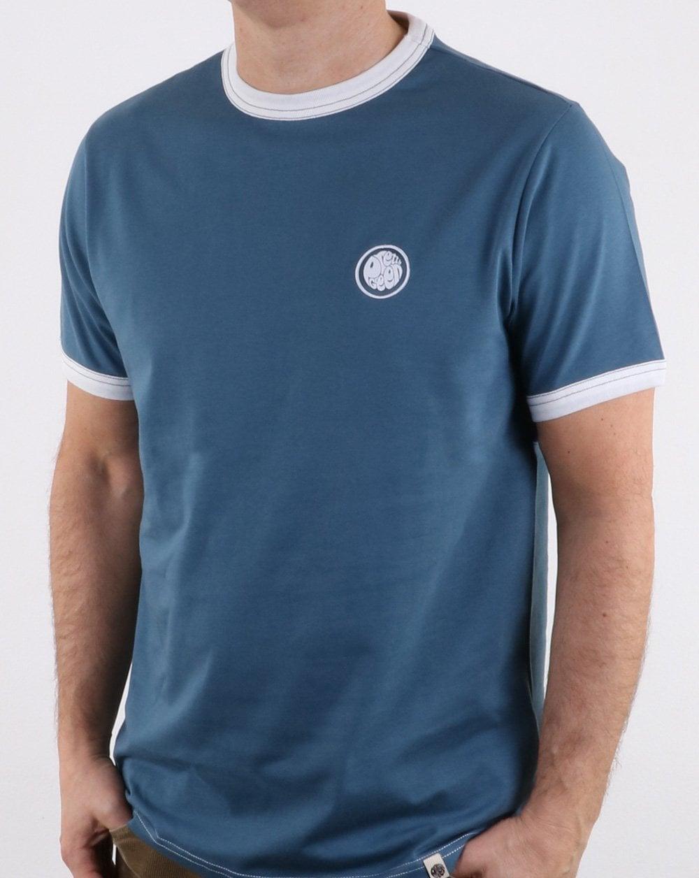 2304bf2a1df Pretty Green Badge T Shirt in Blue