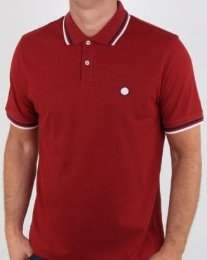 Pretty Green Barton Polo Shirt Red