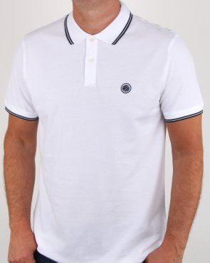 Pretty Green Barton Polo Shirt White/navy