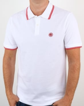 Pretty Green Barton Polo Shirt White