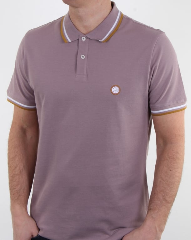 Pretty Green Bassline Polo Shirt Dusty Pink