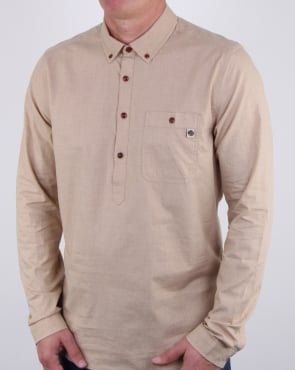Pretty Green Brixham Overhead Shirt Stone