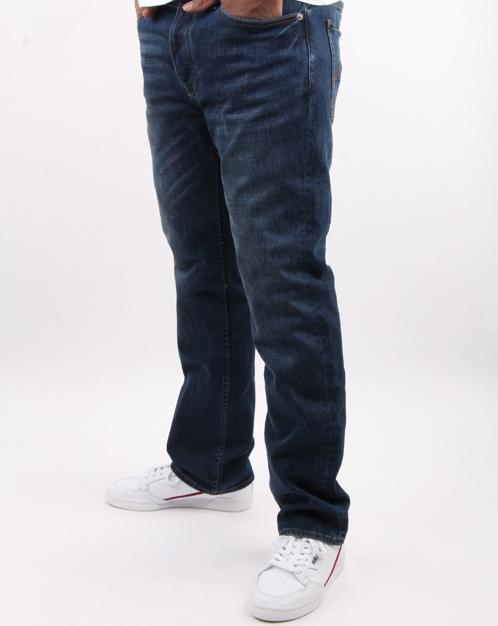6 Month Wash Pretty Green Jeans Burnage Straight Fit Denim