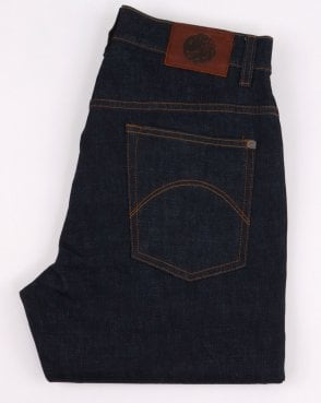 Pretty Green Burnage Regular Fit Jeans Rinse Wash