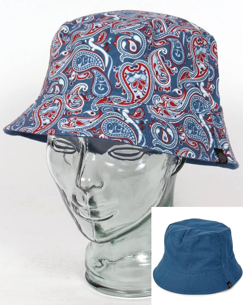 0e7b65a2d23 Pretty Green Pretty Green Camley Bucket Hat Blue