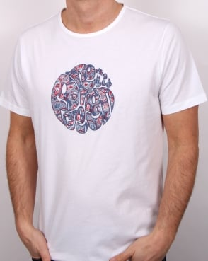 Pretty Green Camley Paisley Applique T Shirt White