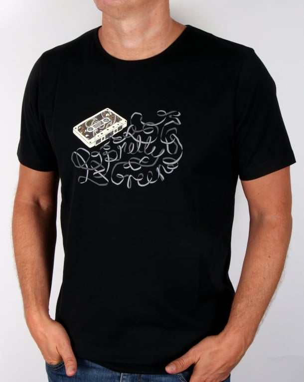 Pretty Green Cassette T-shirt Black