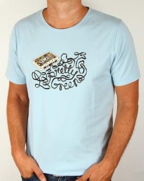 Pretty Green Cassette T-shirt Sky Blue
