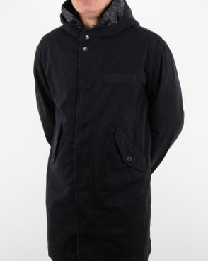 Pretty Green Cassidy Parka Black