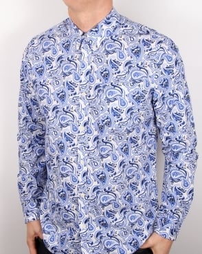 Pretty Green Caversham Paisley Shirt White