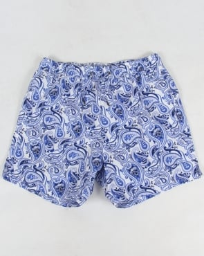 Pretty Green Caversham Paisley Shorts Blue
