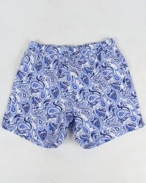 Pretty Green Caversham Paisley Shorts Blue