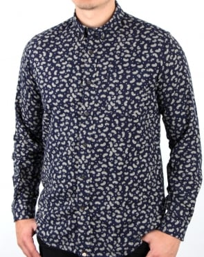 Pretty Green Chidlow Shirt Navy