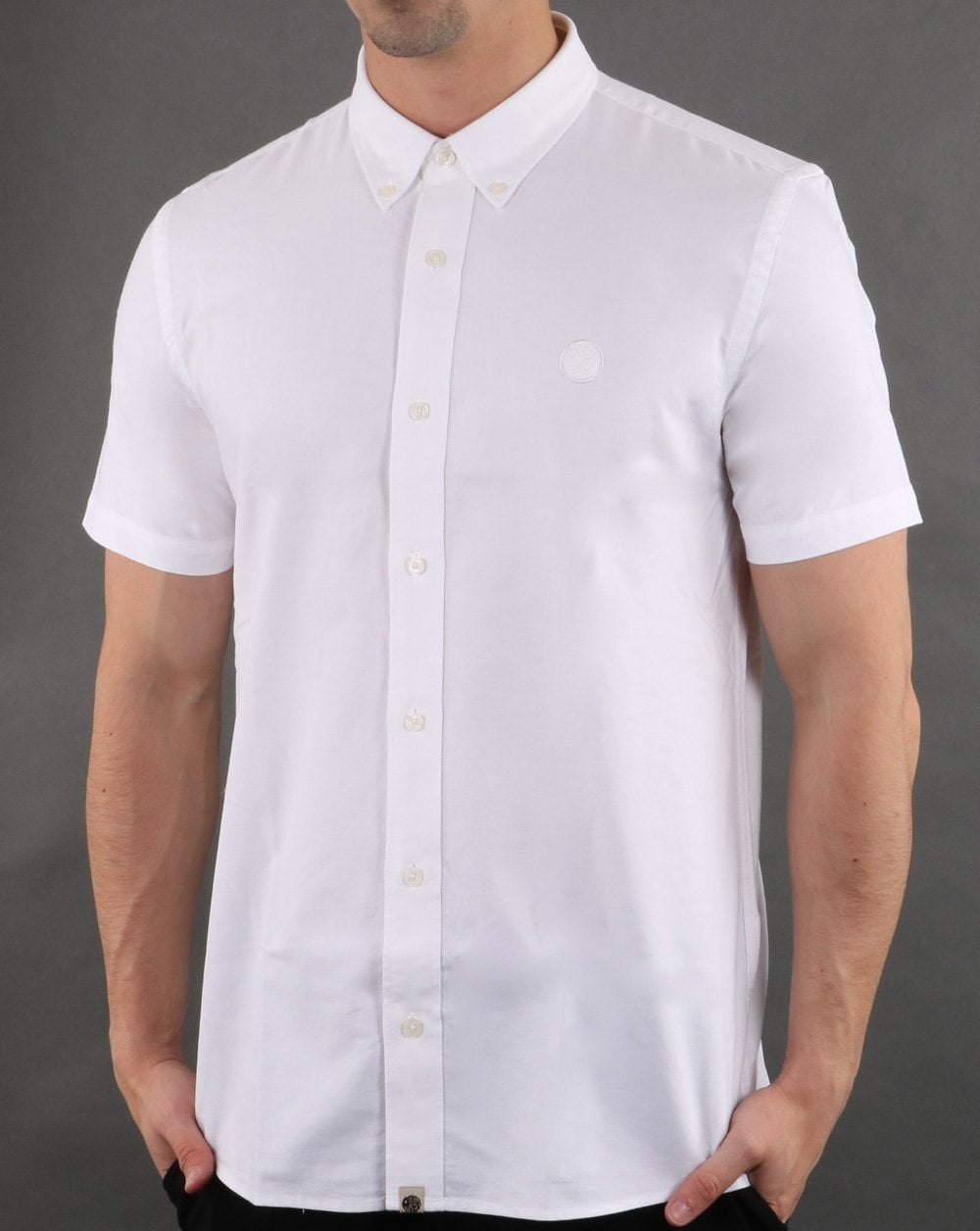 4a034cd17006 Pretty Green Short Sleeve Shirt in White | 80s Casual Classics