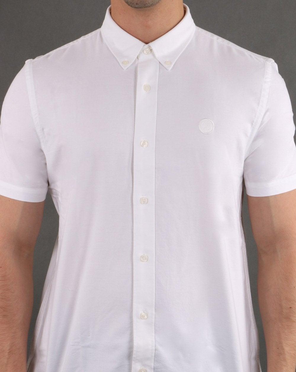 6c20a89720fd Pretty Green Short Sleeve Shirt in White | 80s Casual Classics