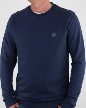 Pretty Green Clements Crew Sweat Navy