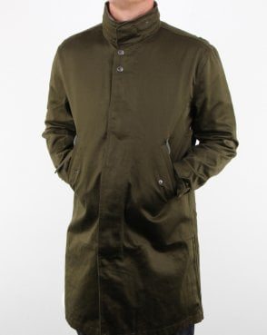 Pretty Green Collared Hooded Mac Khaki