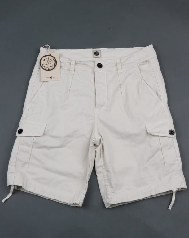 Pretty Green Combat Shorts Stone