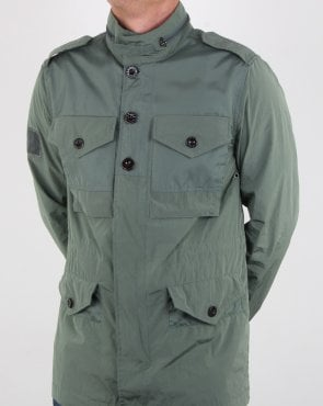 Pretty Green Contrast Fabric M65 Jacket Green