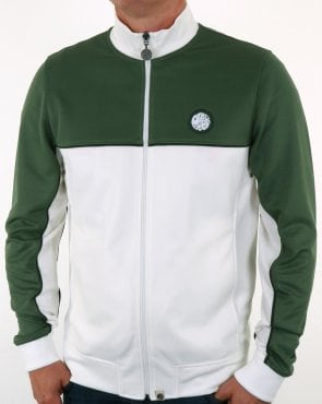 Pretty Green Contrast Panel Track Top Green