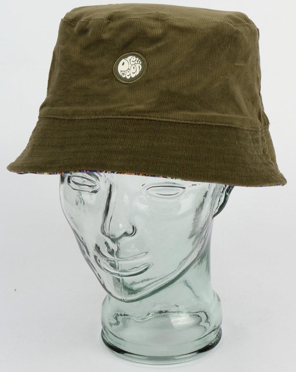 bb019f72e Pretty Green Cord Vintage Paisley Bucket Hat Khaki