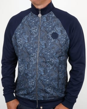 Pretty Green Corrigan Paisley Track Top Navy