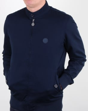 ff7dd9e75abf6 Pretty Green Cotton Harrington Jacket Navy